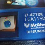Core i7 4770K (haswell世代CPU)をヤフオクで中古購入 開封、比較とか